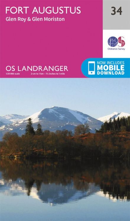 OS Landranger 34 - Fort Augustus, Glen Roy and Glen Moriston
